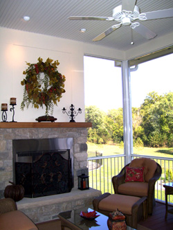 Heartlands Home Interior Screen Room Addition and Renovation - Quality Craftsmanship and attention to detail