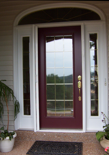 Retractable screen doors windows sliding chesterfield for Entry door with screen