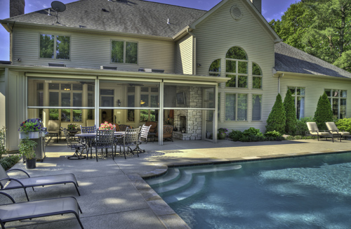 Retractable screen wall systems doors windows for A perfect image salon chesterfield mo