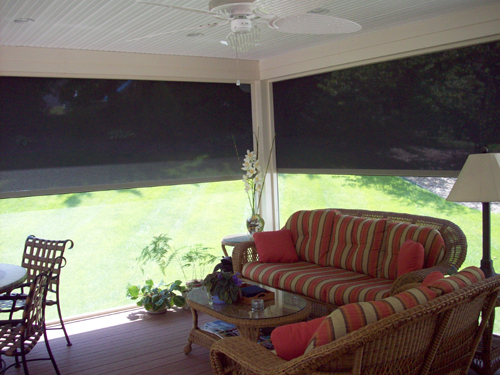 Retractable Solar Screen Walls Doors Windows Chesterfield St Louis
