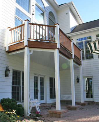 Under deck drainage systems patios builder for Retractable screen porch systems
