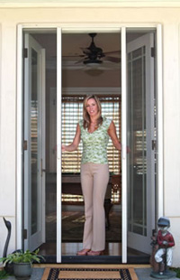 Retractable screen doors windows sliding chesterfield for Insect screens for french doors