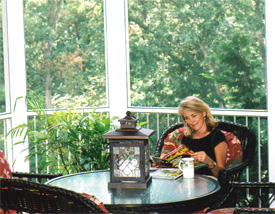 Outdoor room custom addition to existing home - Testimonials from Happy Heartlands Home Building Company, Chesterfield, Missouri