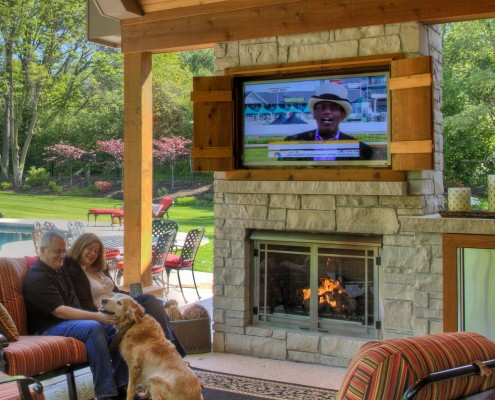 Real Testimonial from Real Clients - Heartlands Home added gorgeous outdoor living space with a McKearn Fireplace as an addition to this Town & Country Home in Missouri