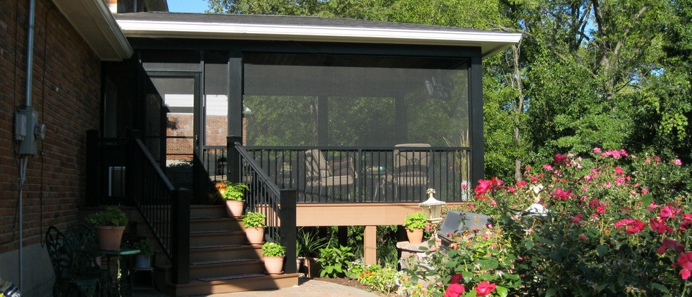 Screened Porch Patio Addition by Heartlands Home Builders and the Screen team(r), USA