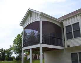 Screened in rooms - Custom additions to your residence by Heartlands ends in a beautiful home and happy home owners.