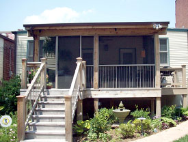 Outdoor Porch Project in St. Louis, MO - Heartland's home builders are professional experts, adaptable and efficient.