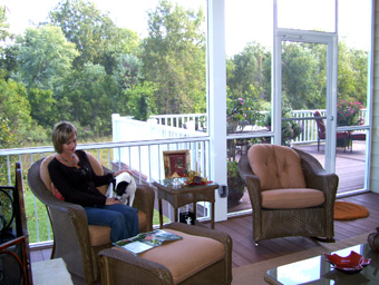 Screened Room addition to residence in Chesterfield, Missouri