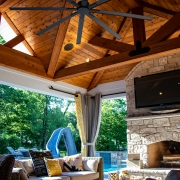 Pool house outdoor room