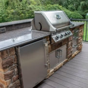Grilling and beverage center feature