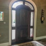 entry door on custom home in st albans