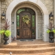 entry door on custom home in st albans