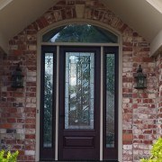 Fiberglass door with transom
