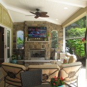 Great transition space to relax from home to pool.