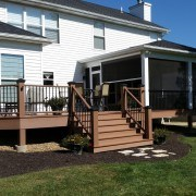 screen room and deck with retractable screen wall