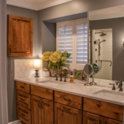 A gorgeous master bathroom remodel in an existing home