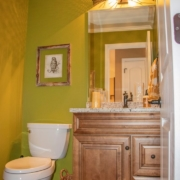 A gorgeous main floor powder room, or half bathroom, renovation