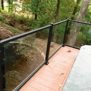 Hot tub deck with Veranda rail