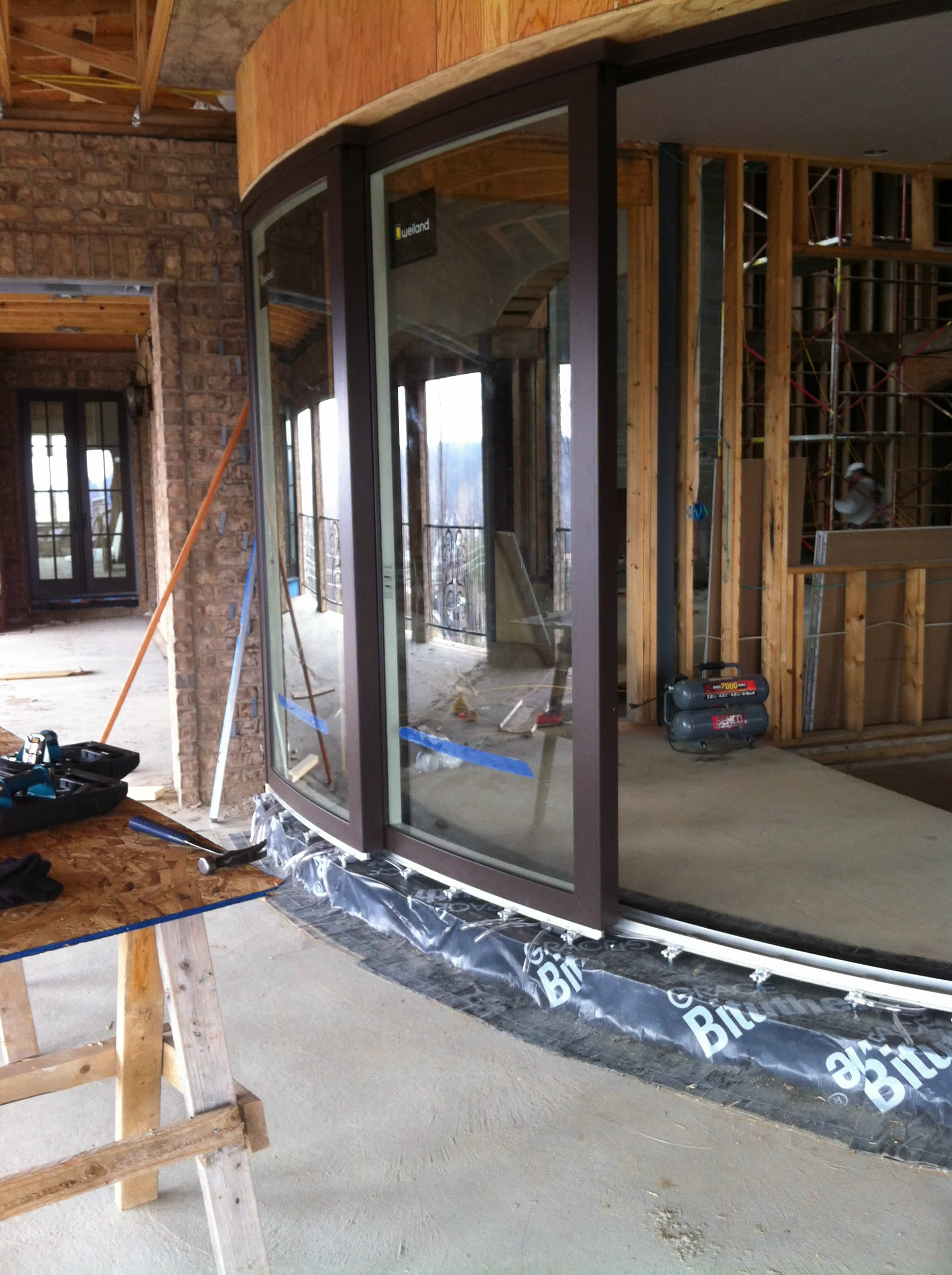 Weiland Liftslide Curved Sliding Doors Heartlands Building Company