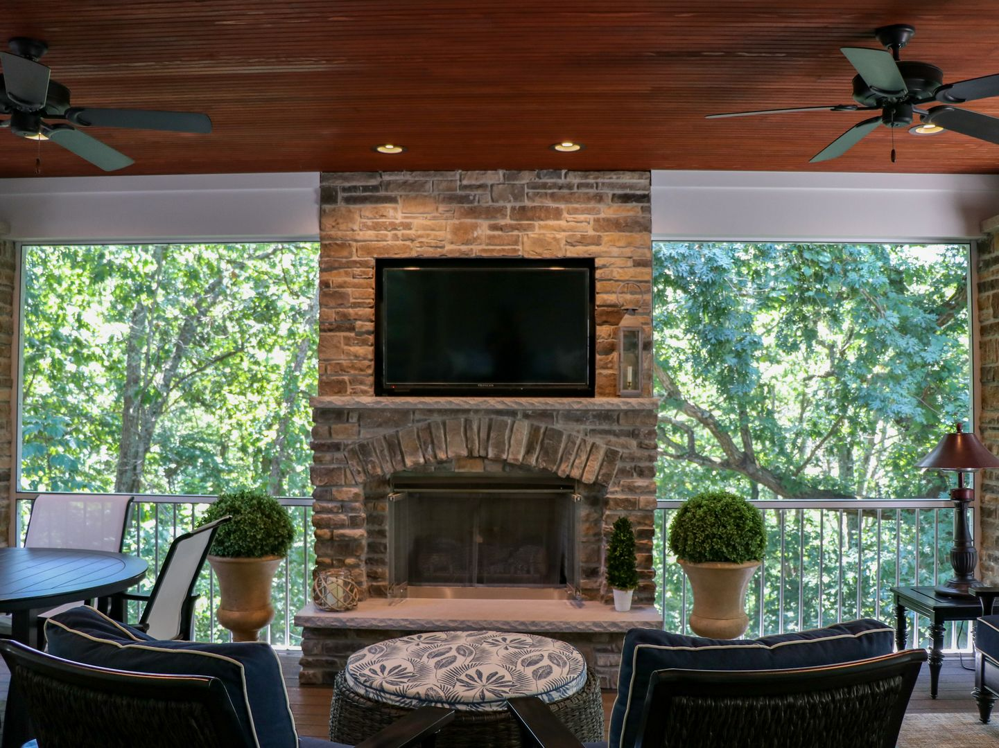 enjoy the best outdoor living space with a TV