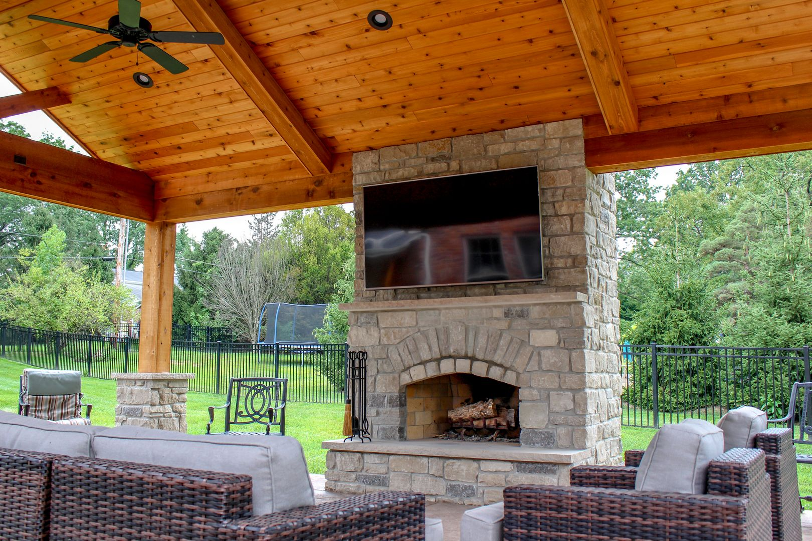 best outdoor room with a TV to enjoy the sounds of nature while watching your favorite sport or show