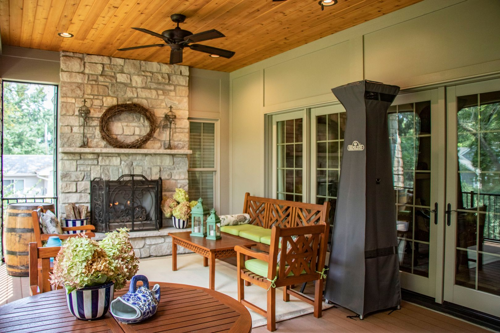 Fireplace and patio/deck heater