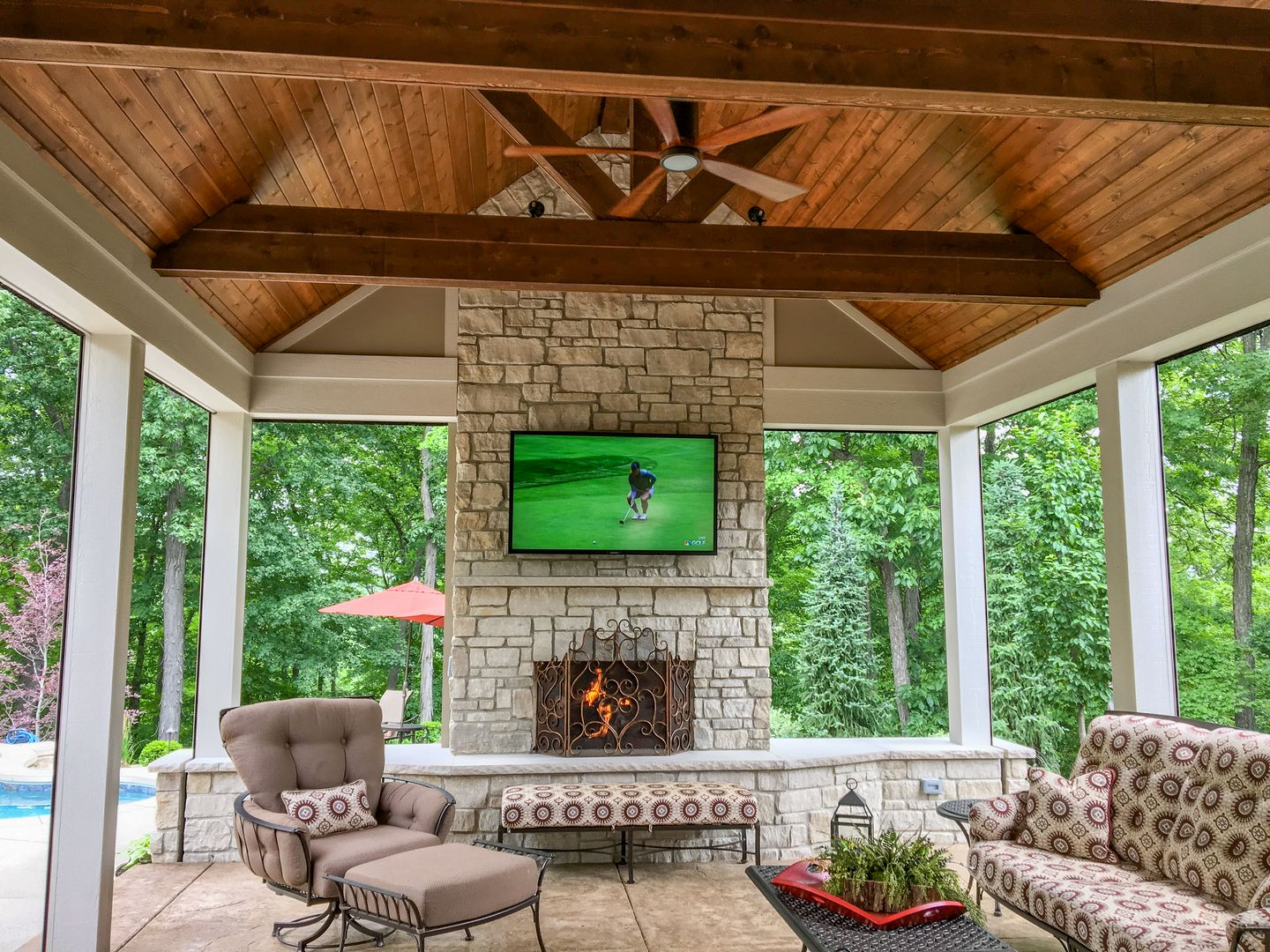 Enjoy this fireplace with family and friends