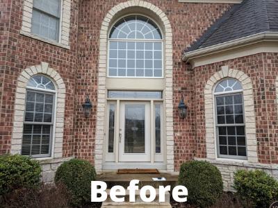front entrance renovation