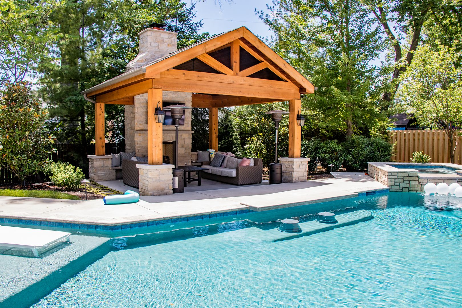 pool side outdoor room