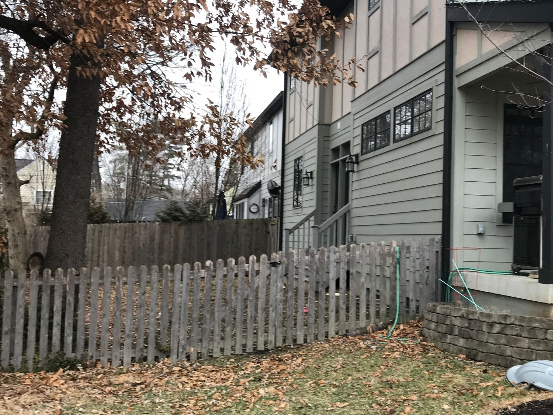side yard renovation before